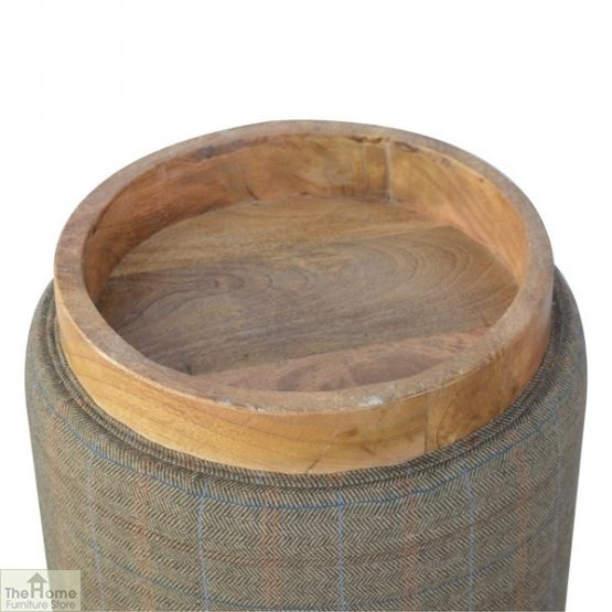 Multi Tweed Round Pouffe_5