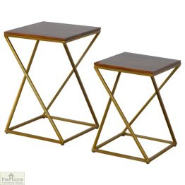 Gold Base Nest 2 Tables