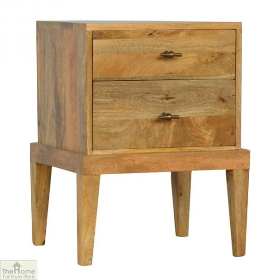 Solid Wood 2 Drawer Bedside Table_1