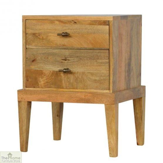 Solid Wood 2 Drawer Bedside Table_2