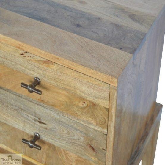 Solid Wood 2 Drawer Bedside Table_5