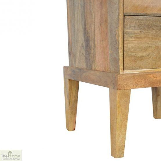 Solid Wood 2 Drawer Bedside Table_8