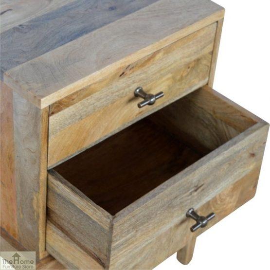 Solid Wood 2 Drawer Bedside Table_7