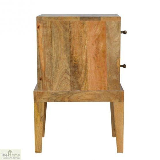 Solid Wood 2 Drawer Bedside Table_3