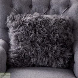 Grey Sheepskin Cushion_1