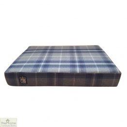 Blue Check Memory Foam Dog Bed