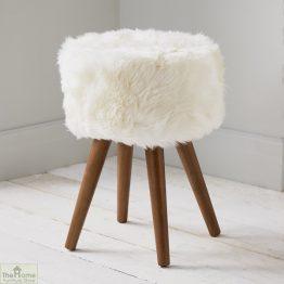Natural Sheepskin Stool_1