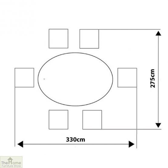 Casamoré Corfu Woodash 6 Seater Oval Dining Set_12