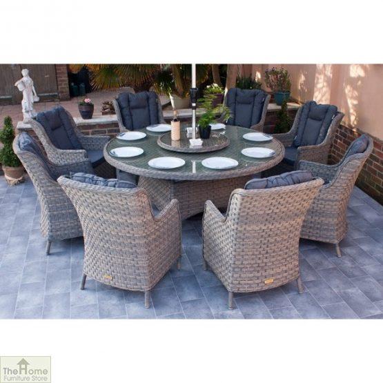 Casamoré Corfu Woodash 8 Seater Round Dining Set_2