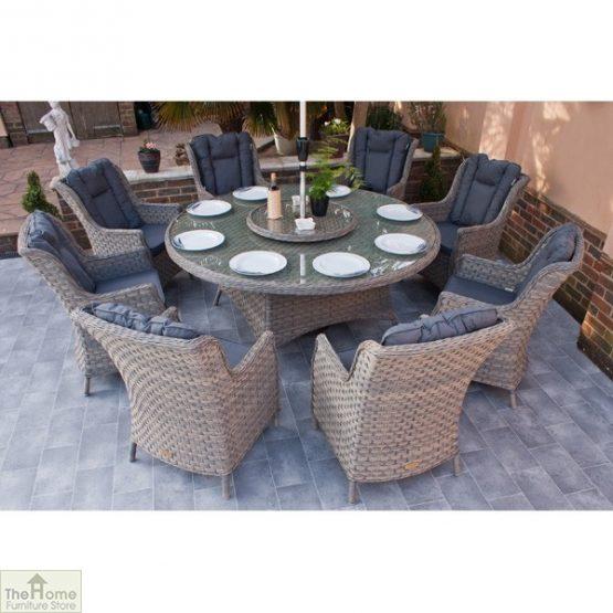 Casamoré Corfu Woodash 8 Seater Round Dining Set_3