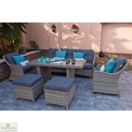 Casamoré Corfu Woodash Rectangular Sofa Dining Set