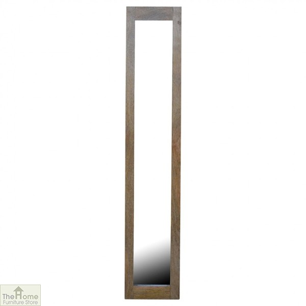 Wall Mounted Wooden Rectangular Mirror