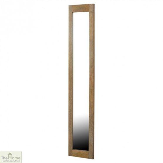 Wall Mounted Wooden Rectangular Mirror _2