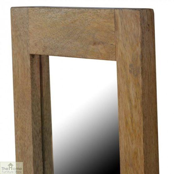 Wall Mounted Wooden Rectangular Mirror _3