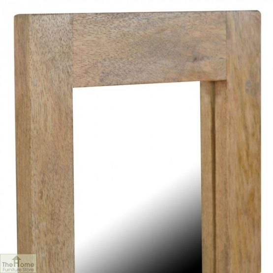 Wall Mounted Wooden Rectangular Mirror_4