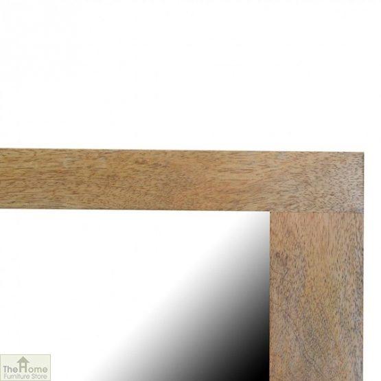 Wall Mounted Wooden Rectangular Mirror_5