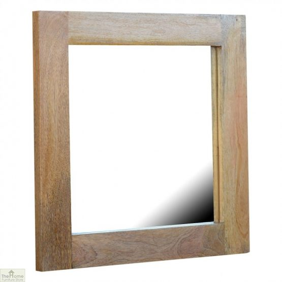 Wall Mounted Wooden Square Mirror_1