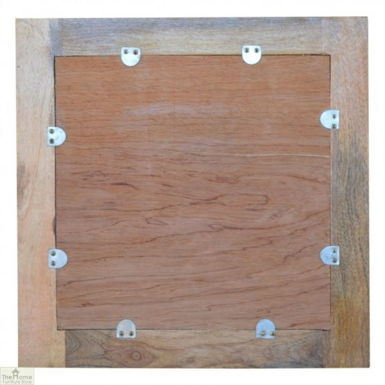 Wall Mounted Wooden Square Mirror_4
