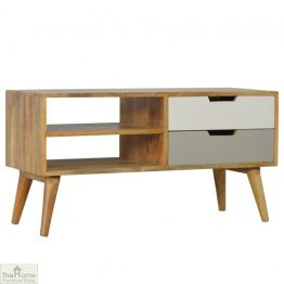 Winchester Grey 2 Shelf 2 Drawer TV Unit_1