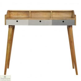 Winchester Grey 3 Drawer Writing Desk