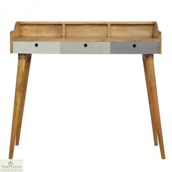 Winchester Grey 3 Drawer Writing Desk