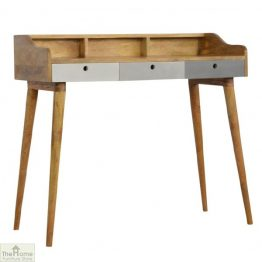 Winchester Grey 3 Drawer Writing Desk_1