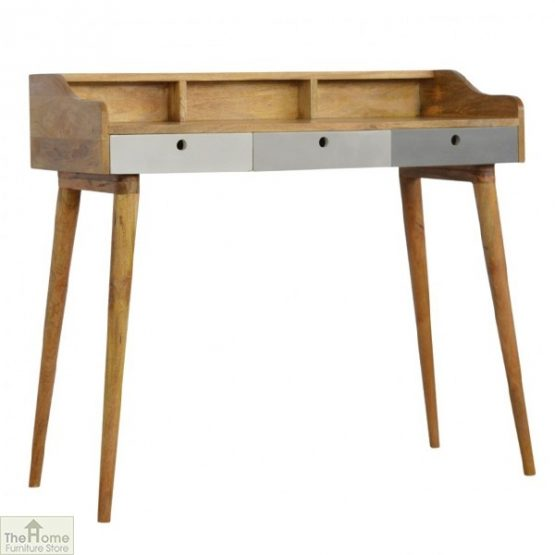 Winchester Grey 3 Drawer Writing Desk_1