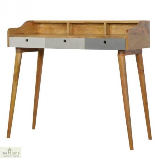 Winchester Grey 3 Drawer Writing Desk_2