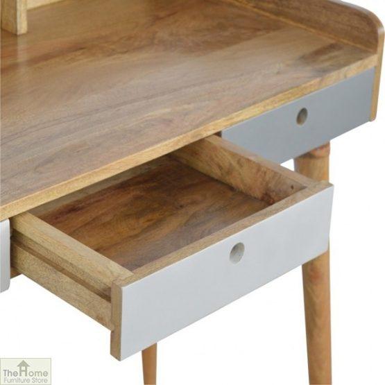 Winchester Grey 3 Drawer Writing Desk_5