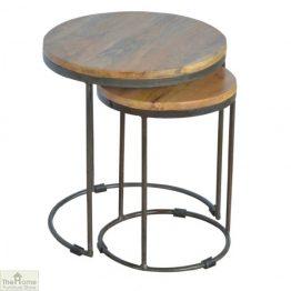 Iron Base 2 Nesting Table Set_1