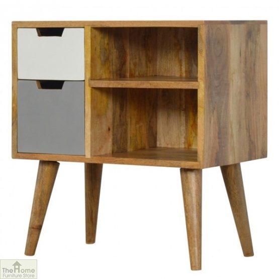 Winchester Grey 2 Drawer 2 Shelf Cabinet_2