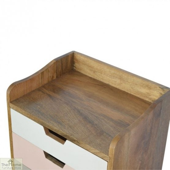 Winchester Pink 3 Drawer Bedside Table_5