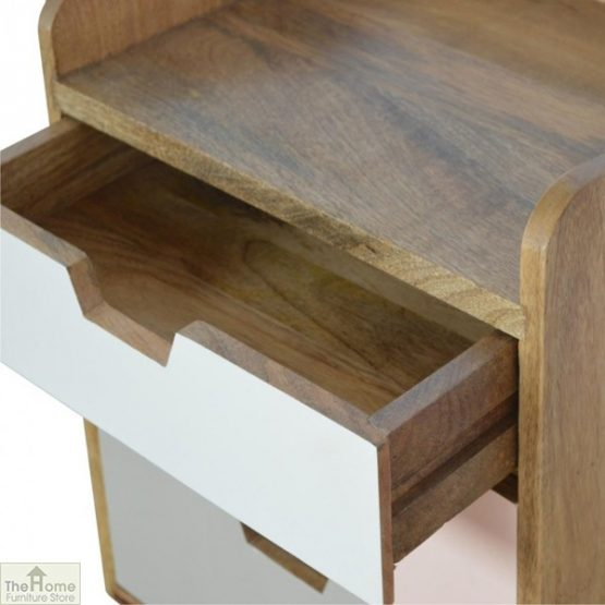 Winchester Pink 3 Drawer Bedside Table_6
