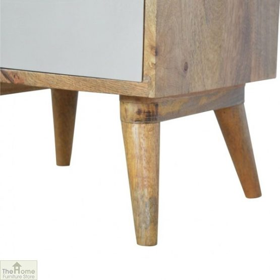 Winchester Pink 3 Drawer Bedside Table_8
