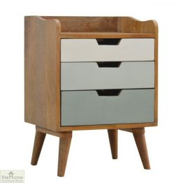 Winchester Green 3 Drawer Bedside Unit_1