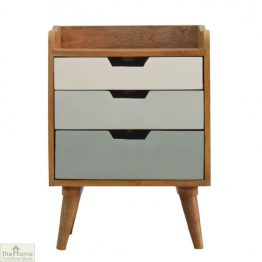 Winchester Green 3 Drawer Bedside Unit