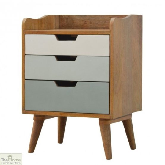 Winchester Green 3 Drawer Bedside Table_2