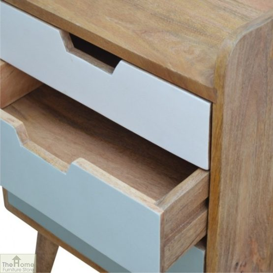 Winchester Green 3 Drawer Bedside Table_5