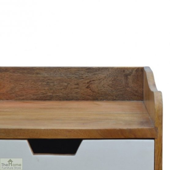 Winchester Green 3 Drawer Bedside Table_6