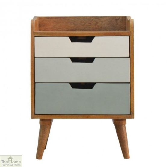 Winchester Green 3 Drawer Bedside Table
