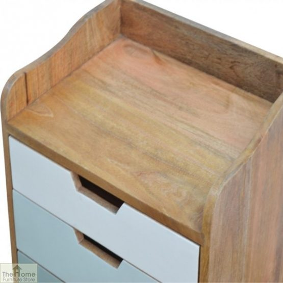 Winchester Green 3 Drawer Bedside Table_7