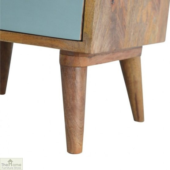 Winchester Green 3 Drawer Bedside Table_8