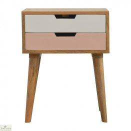 Winchester Pink 2 Drawer Bedside Table