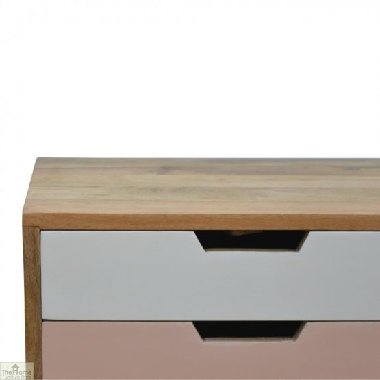 Winchester Pink 2 Drawer Bedside Table_5