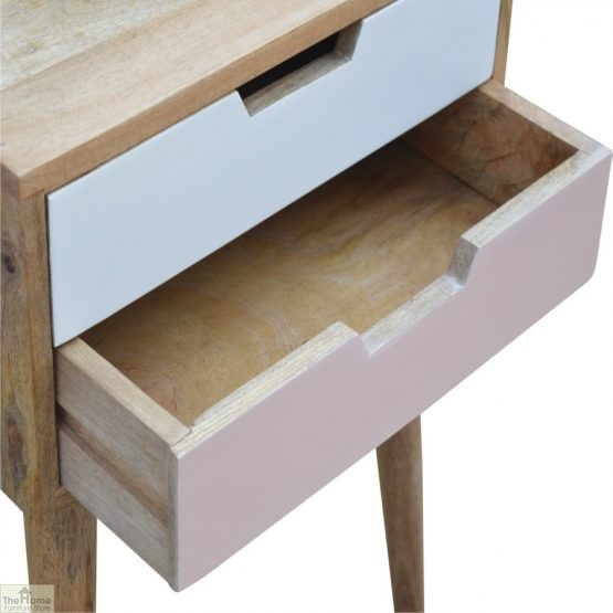Winchester Pink 2 Drawer Bedside Table_6