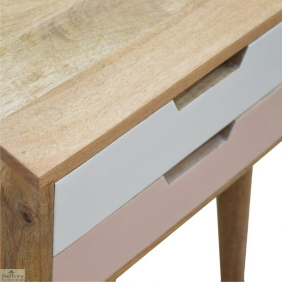 Winchester Pink 2 Drawer Bedside Table_7