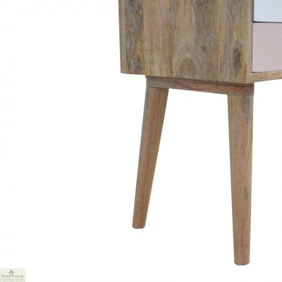 Winchester Pink 2 Drawer Bedside Table_8