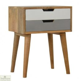 Winchester Grey 2 Drawer Bedside Table_1