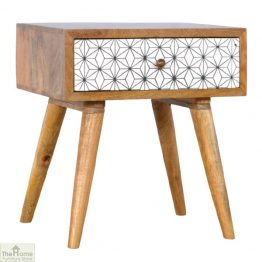 Geometric Print 1 Drawer End Table_1