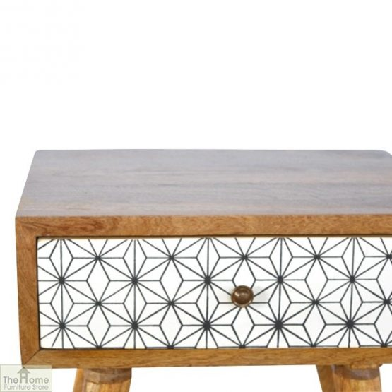Geometric Print 1 Drawer End Table_3